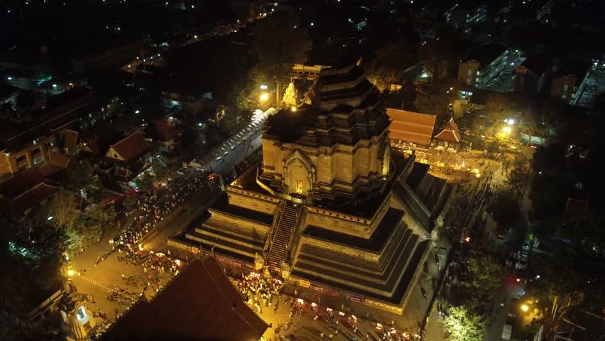 Aerial Shot Wat Chedi Luang Chiang Mai, Thailand. | Shutterstock HD Video #16570561