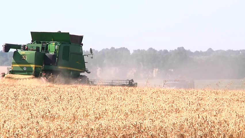 Stock Video Of Harvester In The Field Specialized