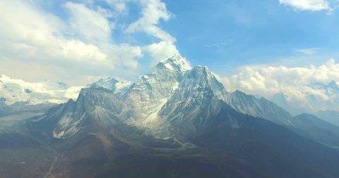 View at Amadablan mountain in Himalaya mountains