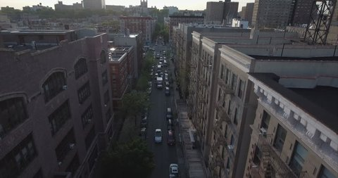 Harlem Above Building Tops With Ambulance