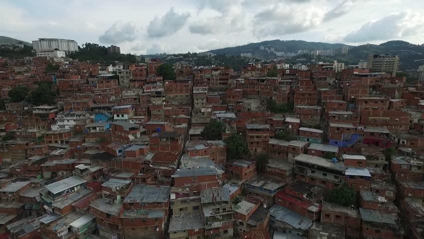 Venezuelan Slum Aerial Footage