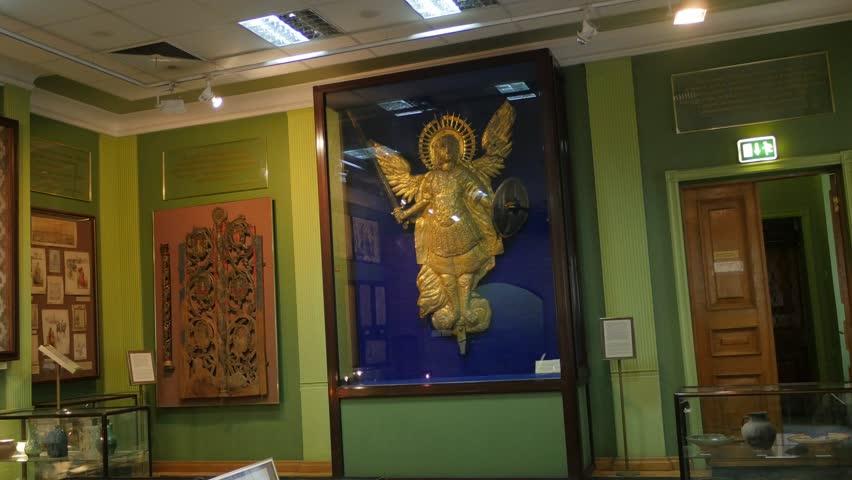 Kiev/ukraine - Nov 24 2015: People In Saint Michael's Golden Top ...