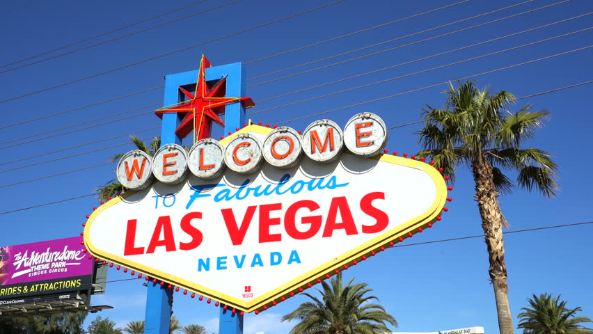 Famous Las Vegas sign at day - February 2016: Las Vegas, Nevada | Shutterstock HD Video #16879891