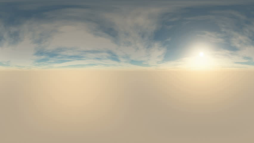 360 degree Panoramic Sky and Clouds. ready for use in 3D environment mapping and 360VR