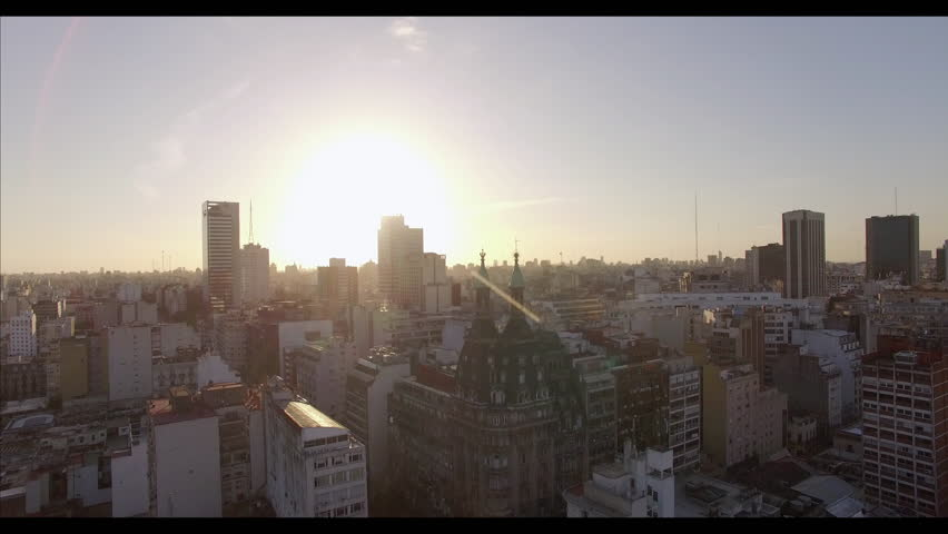 Buenos Aires, Argentina - November 21, 2015: Yesterday and today, urban architecture Buenos Aires, Argentina