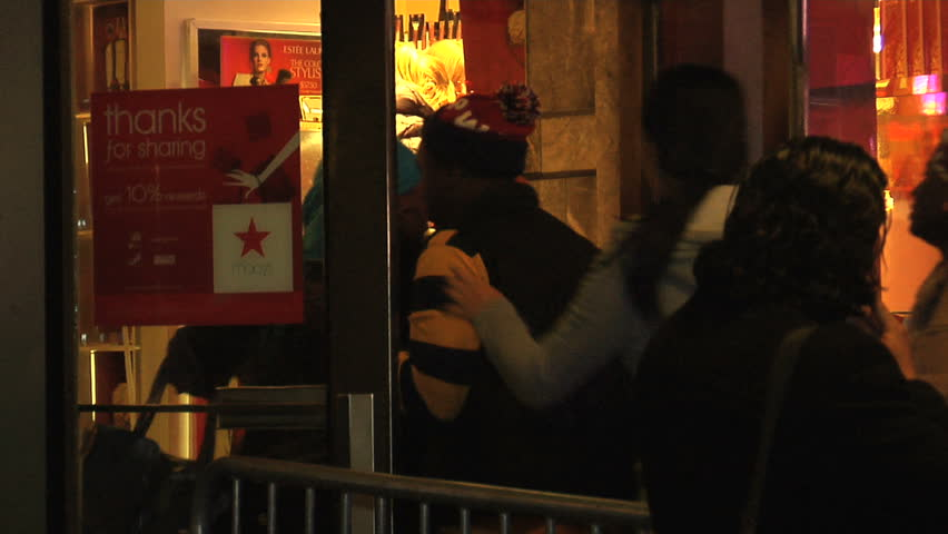 NEW YORK - NOVEMBER 26: Macy's black friday shoppers start holiday shopping at 12AM, November 26, 2011 in New York.