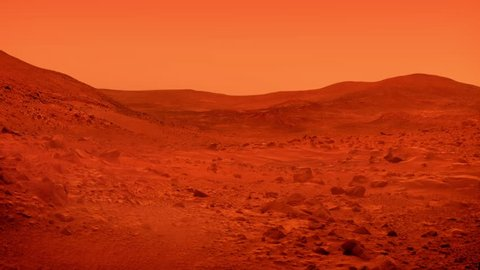 Mars Planet Surface With Dust Blowing