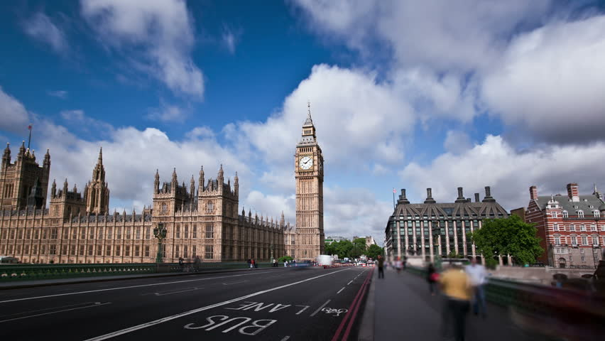 Big Ben, Houses of Parliament, and London Bridge  time lapse | Shutterstock HD Video #1693606