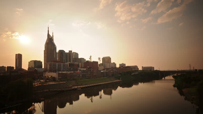 Nashville, TN skyline time lapse