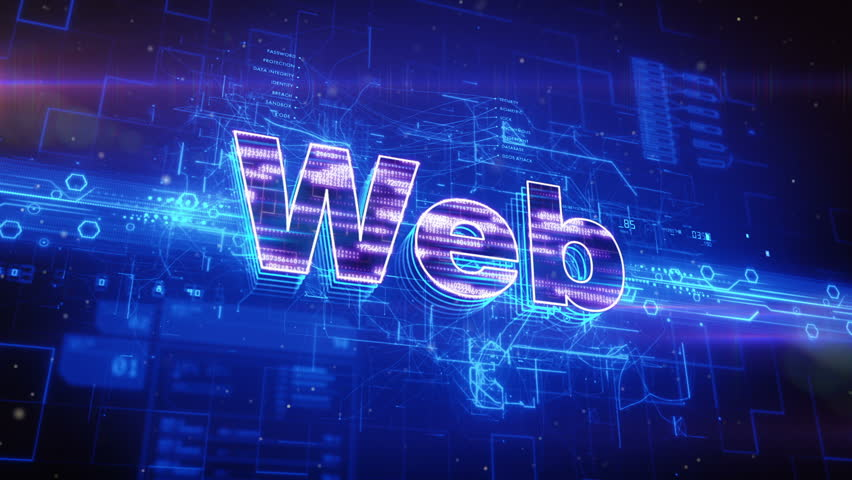 Abstract animation of WEB text in digital cyberspace | Shutterstock HD Video #16942411