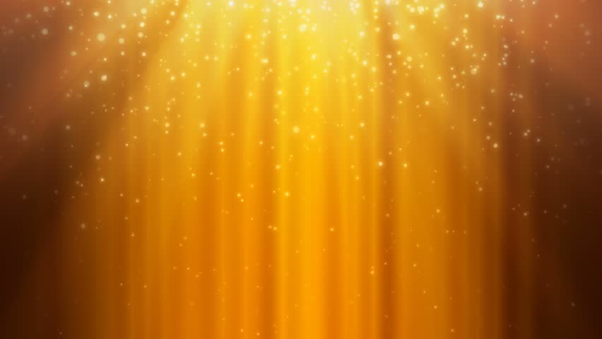 Golden Rays and Falling Particles - Seamlessly Looping Background | Shutterstock HD Video #16986541