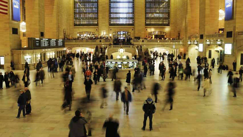 NEW YORK - CIRCA JUNE 2011 (Timelapse): Time lapse of Grand Central station circa June 2011 in New York city.