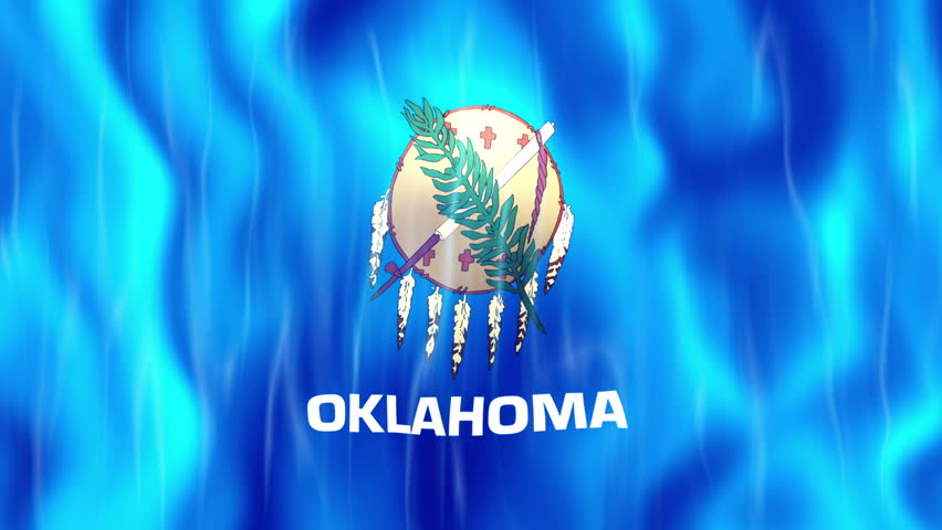 Oklahoma State Flag Animation Ultra HD, 3840x2160 Pixels, Realistic Flag Animation,  High Quality Quicktime animation Movie works with all Editing Programs,  20 Seconds Duration