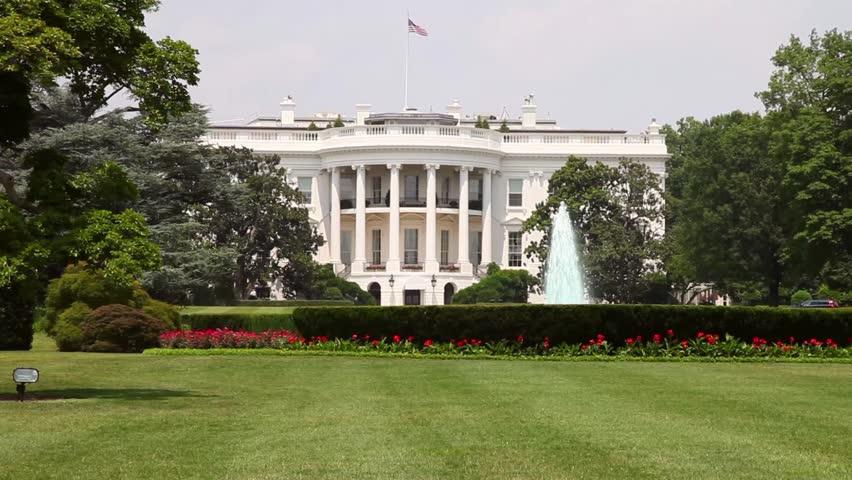 washington dc the white house lawn stock footage video