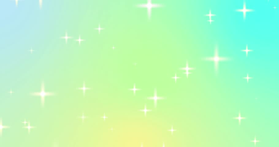 Flickering stars sparkling Particles random motion abstract background on cyan green and yellow gradient color seamless loop animation.  | Shutterstock HD Video #17001871