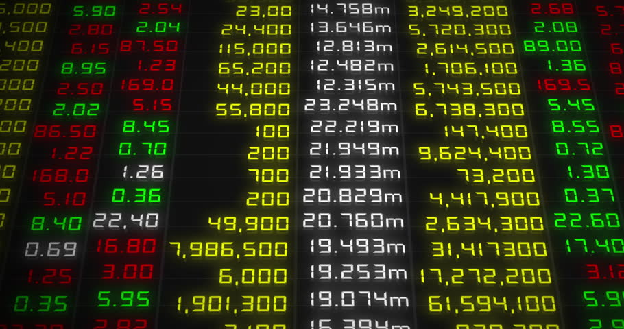Stock market chart stock market data on led display stock footage
