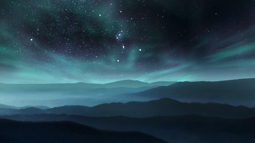 Aurora in the night sky #17026099