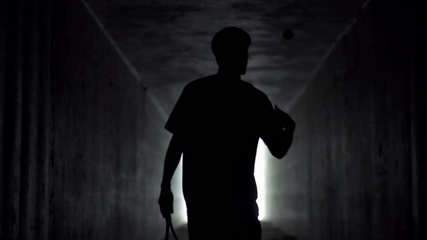 Tennis Player Entering Stadium