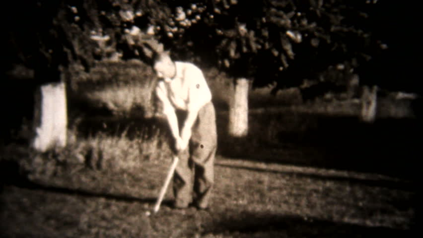 Old time golfer 1940s | Shutterstock HD Video #17074201