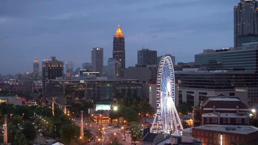 USA CIRCA APRIL City Skyline At Dusk Atlanta Georgia - Is georgia in the united states
