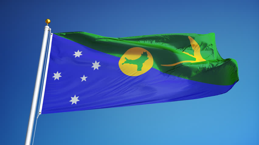 Christmas Island Flag.Christmas Island Flag Waving In Stock Footage Video 100 Royalty Free 17132761 Shutterstock