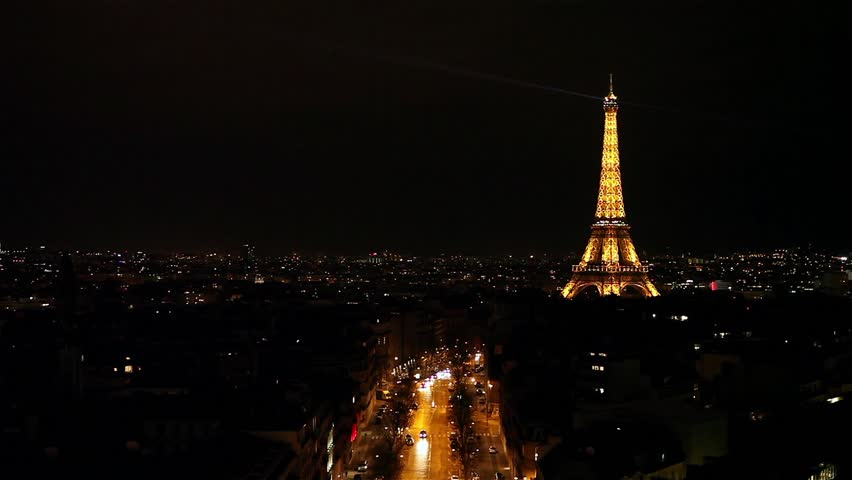 It's panoramic view of Paris at night time