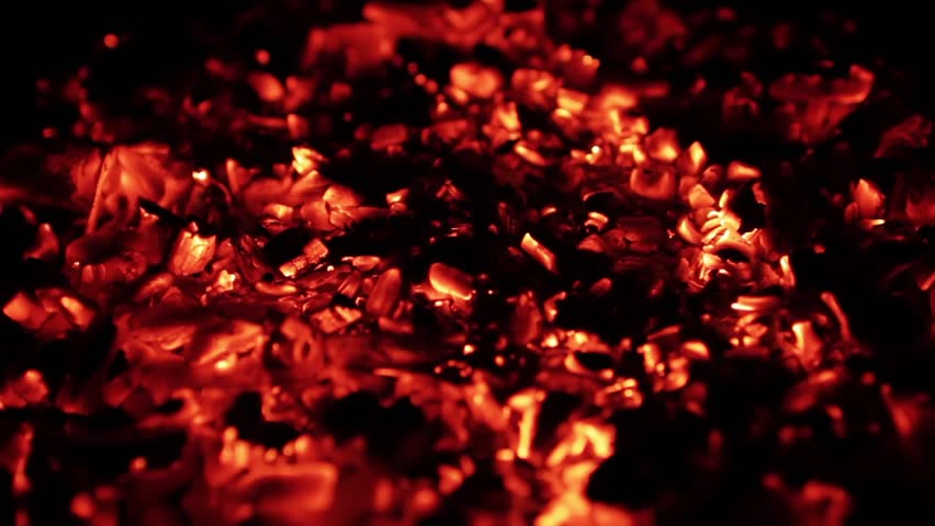 Burning coal, Close up of red hot coals glowed in bonfire | Shutterstock HD Video #17265601
