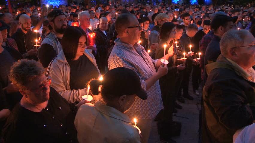 Toronto Ontario Canada June 2016 Toronto candlelight vigil memorial for Orlando gay nightclub shooting & KHERSON UKRAINE - DECEMBER 20 2016: Children Finger Drawing ... azcodes.com