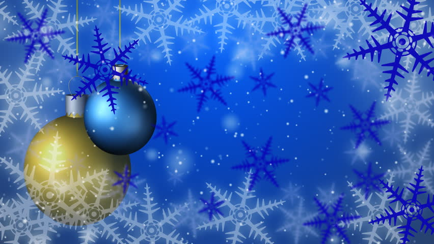 Christmas background seamless loop blue | Shutterstock HD Video #1729231