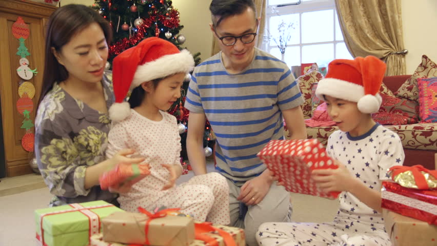 Chinese Christmas.Chinese Family On Christmas Morning Stock Footage Video 100 Royalty Free 17310241 Shutterstock