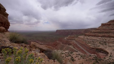 Trail of the Ancients, a National Scenic Byway steep switchbacks, Moki Dugway