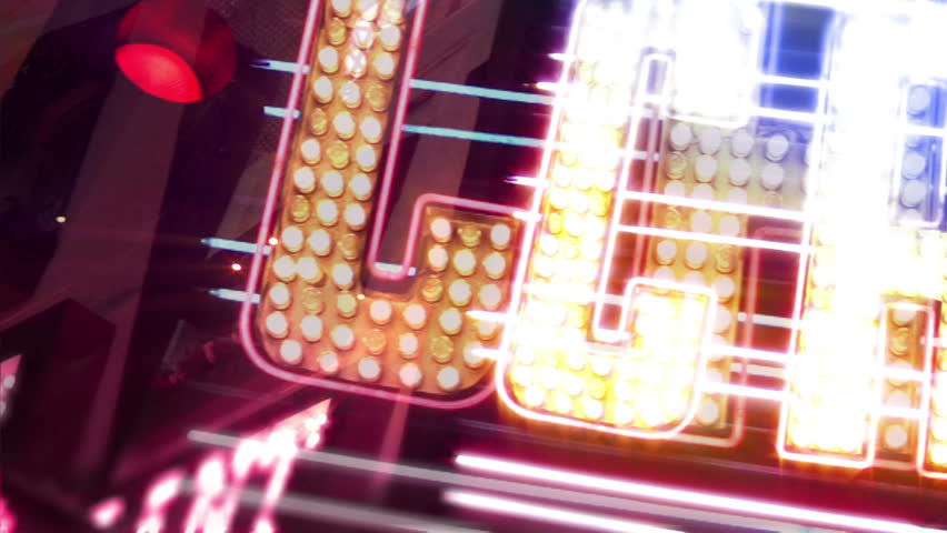 Casino Neon Sign with Flashing Light Bulbs | Shutterstock HD Video #1738021