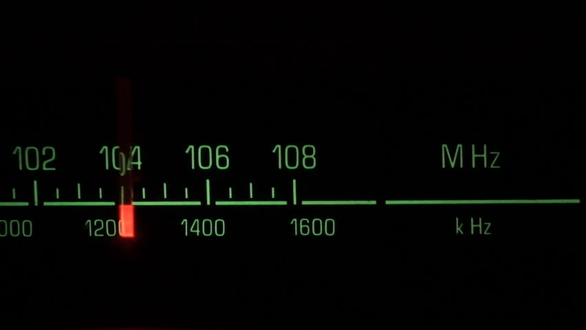 Classic radio receiver fm tune dial panel
