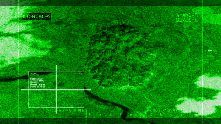 Night-vision Video Bomb Hitting Target