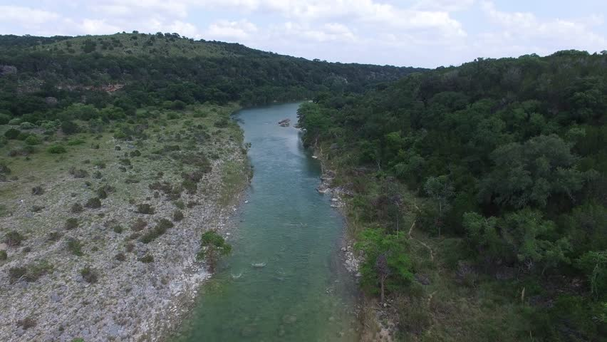 This is an aerial video of the Pedernales Falls.  Pedernales Falls is located in Johnson City Texas. | Shutterstock HD Video #17397571