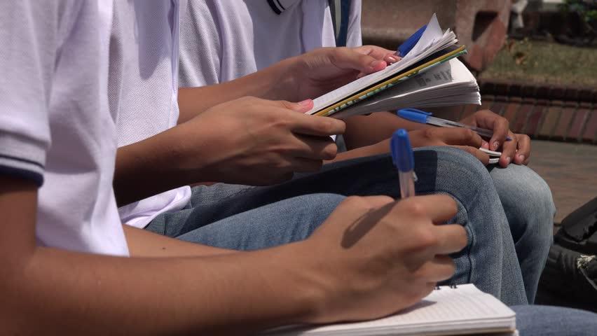 Teens Writing In Notebooks | Shutterstock HD Video #17426881