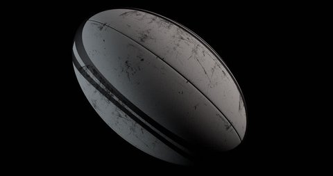 Rugby Ball rotation loop with alpha channel. UltraHD 4K