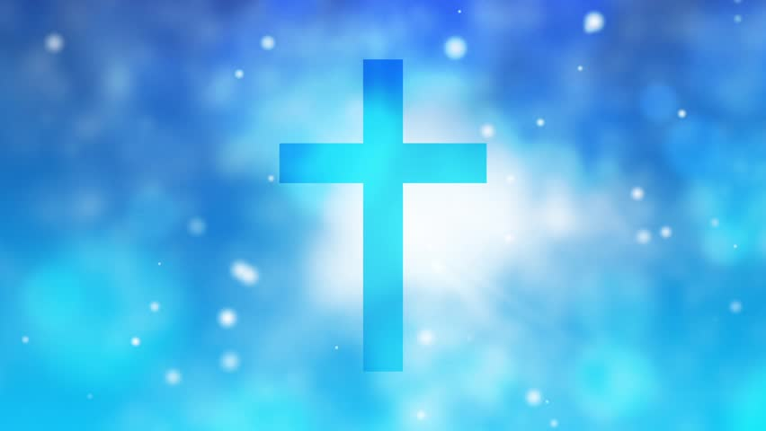 worship cross motion background full stock footage video