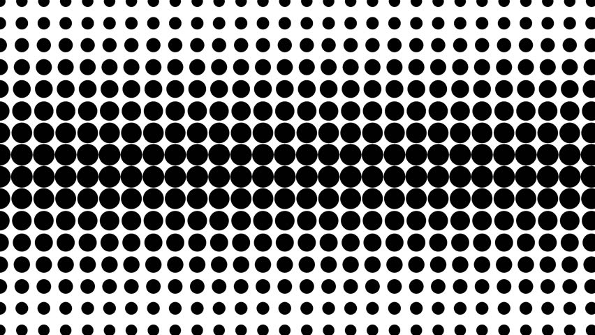 Dynamic black and white composition. Halftone element. Loop ready animation. 4K. #17483743