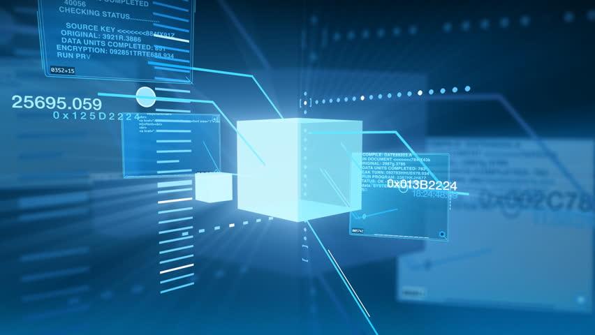 Digital Data Code Network Interface Technology | Shutterstock HD Video #1758044