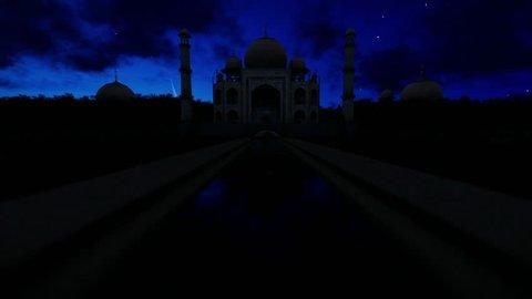 Taj Mahal twentyfour hour timelapse
