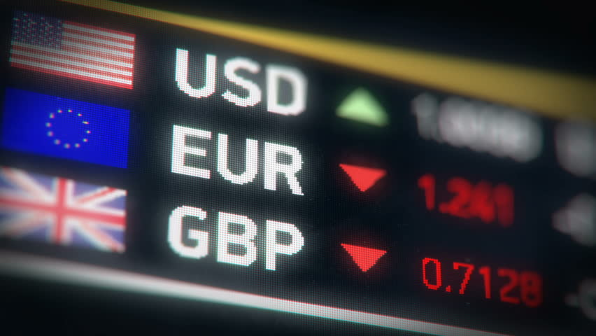 British pound, Euro, US dollar comparison, currencies falling, financial crisis. European Union and Great Britain currencies plummet down after Brexit | Shutterstock HD Video #17619340