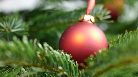 Red Christmas Ball Stock Footage Video (100% Royalty-free