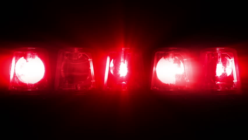 Fire Truck Lights Flashing - Looping