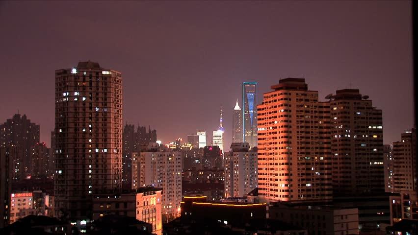 Skyline view of Shanghai. | Shutterstock HD Video #1768991