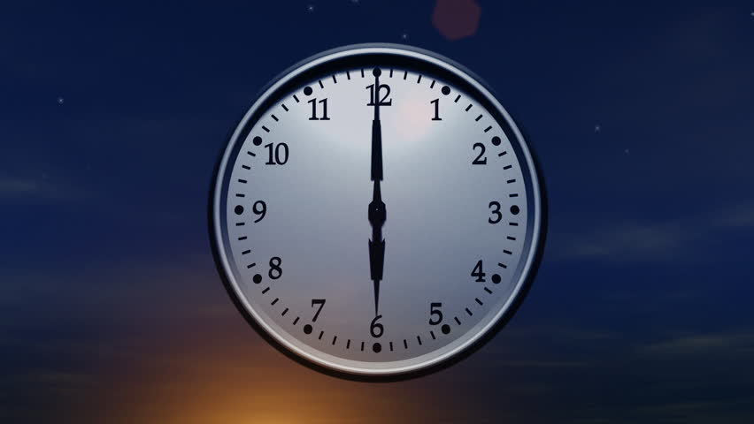 Clock Spinning 24 Hours Loop