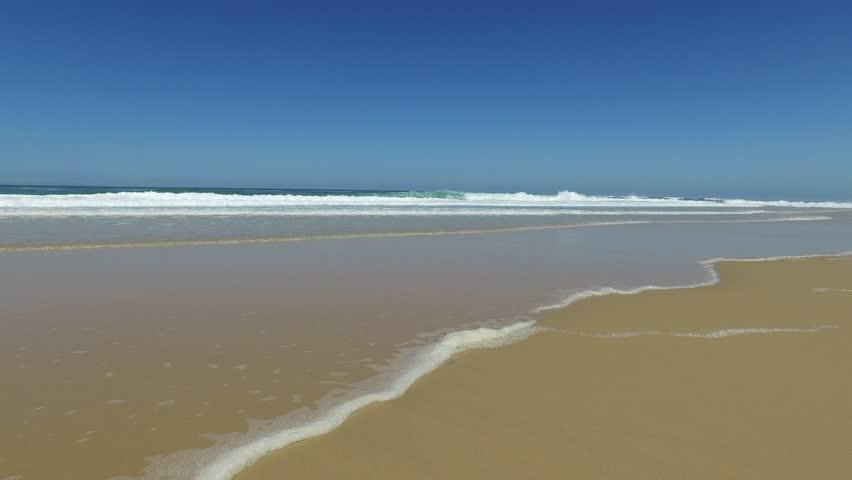 Sea beach blue sky sand sun daylight relaxation landscape viewpoint for design postcard and calendar  | Shutterstock HD Video #17765731