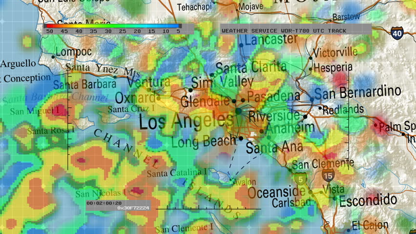 Weather Radar Digital Satellite Map Stock Footage Video - Digital satellite map