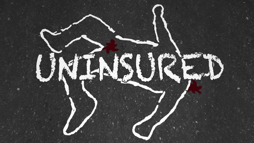 Uninsured Medical Insurance Accident Injury Chalk Outline Animation
