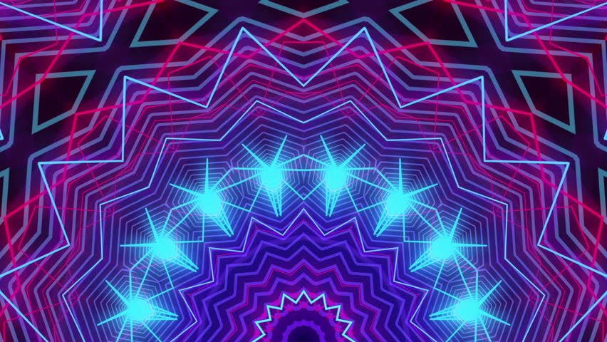 4k Disco Hypnotic Light Centerd Vj Loop Disco Effect: Disco Kaleidoscope Stage Visual Loop For Concert, Night
